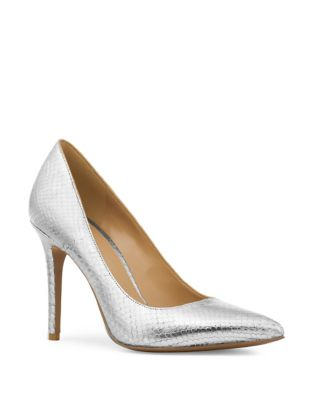 Claire Snakeskin=Embossed Leather Pumps by MICHAEL MICHAEL KORS
