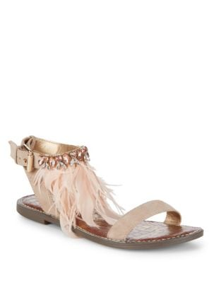 Genevia Buckled Leather Sandals by Sam Edelman
