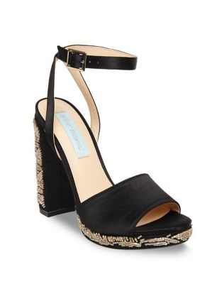 Carin Satin Ankle-Strap Sandals by Betsey Johnson