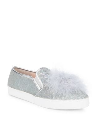 Latisa Sequin Feather Pom-Pom Sneakers by Kate Spade New York