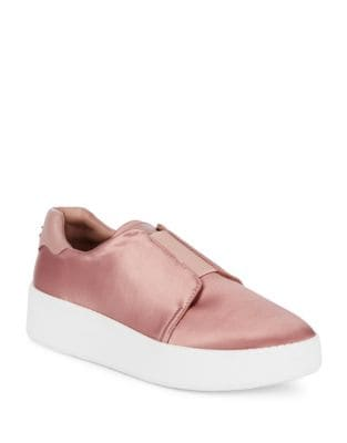 Park Satin Slip-On Sneakers by Donna Karan
