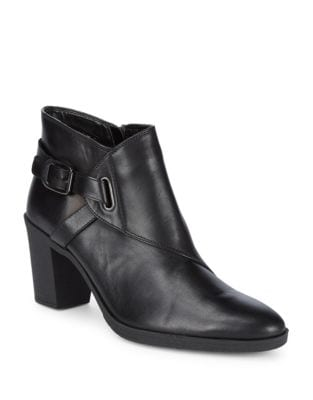 Saddle-Up Leather Booties by The Flexx