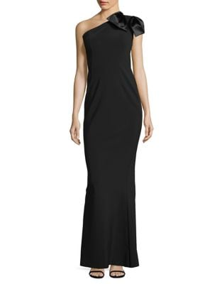 One Shoulder Long Gown by Chiara Boni La Petite Robe