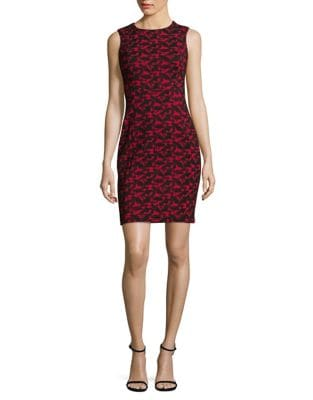Petite Two-Toned Sheath Dress by Calvin Klein