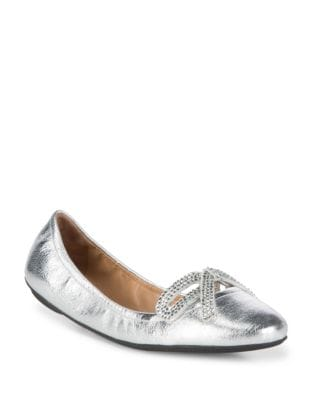Willa Strass Bow Ballerina Leather Ballet Flats by Marc Jacobs