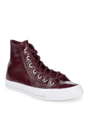 High Top Leather Sneakers by Converse