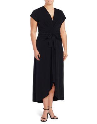 Plus Maxi Wrap Dress...