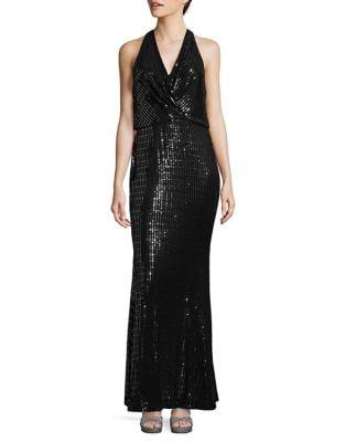 Metallic Wrap Dress 500087682305