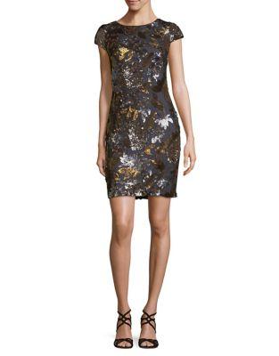 Cap Sleeve Sheath Dress by Calvin Klein