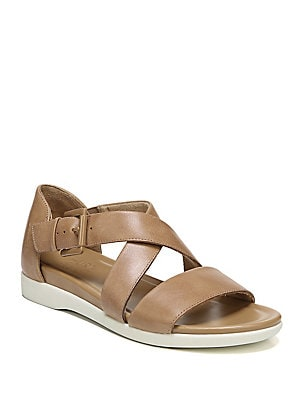 0710d6e5ee11 Naturalizer - Elliot Leather Demi-Wedge Sandals