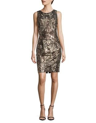 Sequined Sheath Dress by Calvin Klein