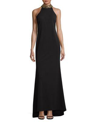 Choker Evening Gown by Calvin Klein