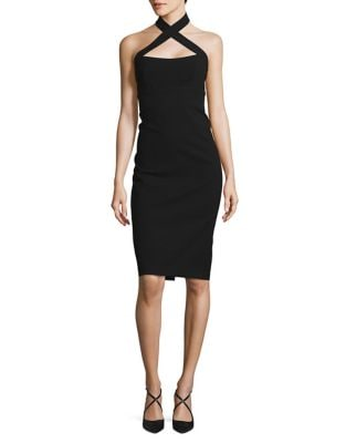 Crisscross Halter Sheath Dress by Jill Jill Stuart