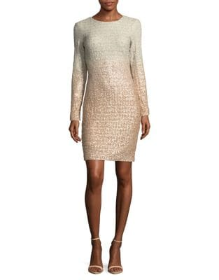 Ombre Sequin Bodycon Dress by Belle Badgley Mischka