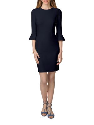 Three-Quarter Sleeve Sheath Dress by Donna Morgan