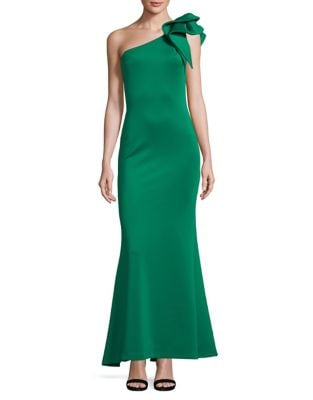 One-Shoulder Mermaid Gown by Betsy & Adam
