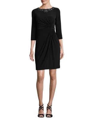 Twist Front Sheath Dress by Alex Evenings