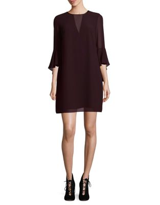 Three-Quarter Sleeve Mini Dress by Vince Camuto