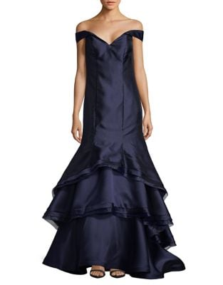 Cold-Shoulder Trumpet Gown by Xscape