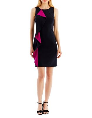 Ruffled Sheath Dress by Nicole Miller New York