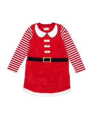 Petit Lem - Little Girl s Sherpa Santa Nightgown 4998aeaf3