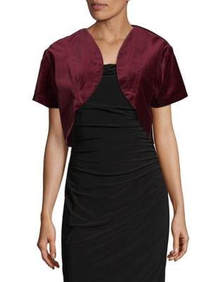 Velvet Short-Sleeve Bolero 500087706562