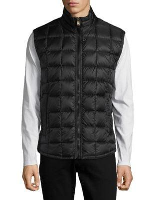 Zip-Front Puffer Vest...