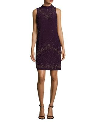 Embellished Sheath Dress by Chetta B