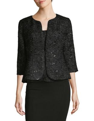 Two-Piece Sequined Jacket and Top by Alex Evenings