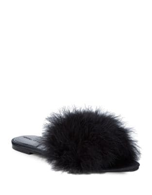 Chloe 2 Feather Slides by KENDALL + KYLIE