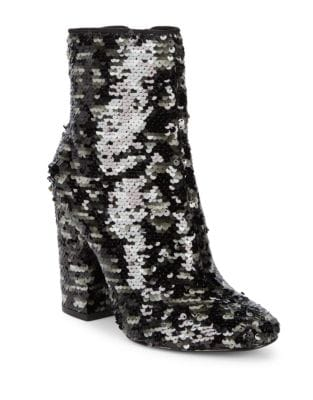 Haedyn5 Sequin Block Heel Booties by KENDALL + KYLIE