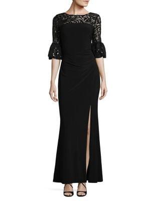 Floral Sequined Jersey Gown by Lauren Ralph Lauren