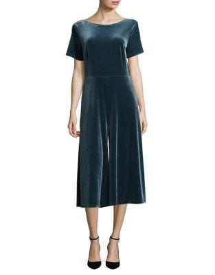Short Sleeve Velvet Midi Dress 500087709809