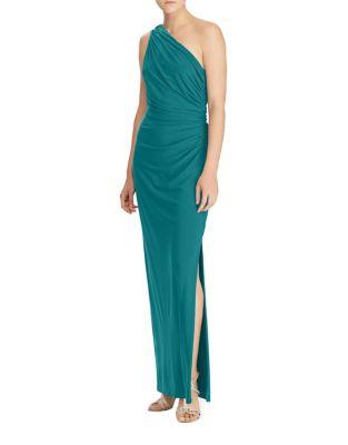 One-Shoulder Jersey Gown by Lauren Ralph Lauren