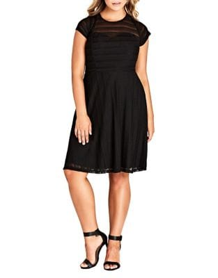 Plus Textured Heart Dress by City Chic