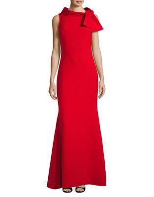 Tie Neck Evening Gown by Badgley Mischka Platinum