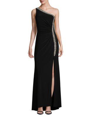 Crystal Embellished One-Shoulder Gown by Vince Camuto