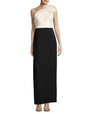 Two-Tone One-Shoulder Gown by Aidan Aidan Mattox