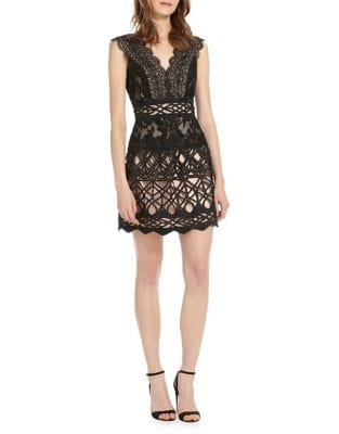 Lace Sleeveless Dress by ML Monique Lhuillier