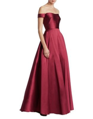 Off-the-Shoulder Ball Gown by ML Monique Lhuillier