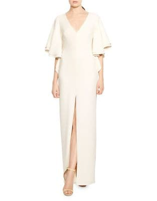 Flounce Bell Sleeve Gown by Halston Heritage