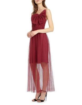Polka-Dot One-Shoulder Dress by ML Monique Lhuillier