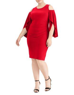 Plus Jersey Cold-Shoulder Dress by Lauren Ralph Lauren