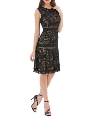 Soutache Fit-&-Flare Dress by JS Collections