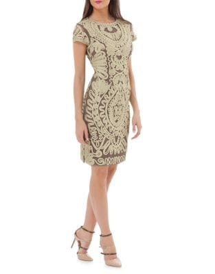 Soutache Sheath Dress by JS Collections