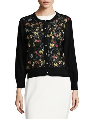 Embroidered Lace Cardigan by Karl Lagerfeld Paris