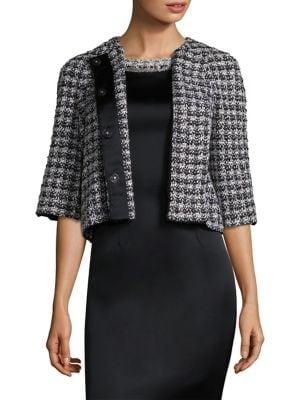 Check Tweed Jacket @...
