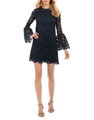 Floral Lace Mini Dress by Nicole Miller New York