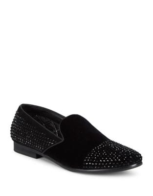 Studded Suede Loafers...