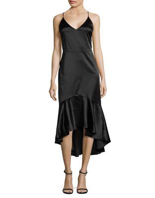 Ruffle-Trim Hi-Lo Dress by Paper Crown